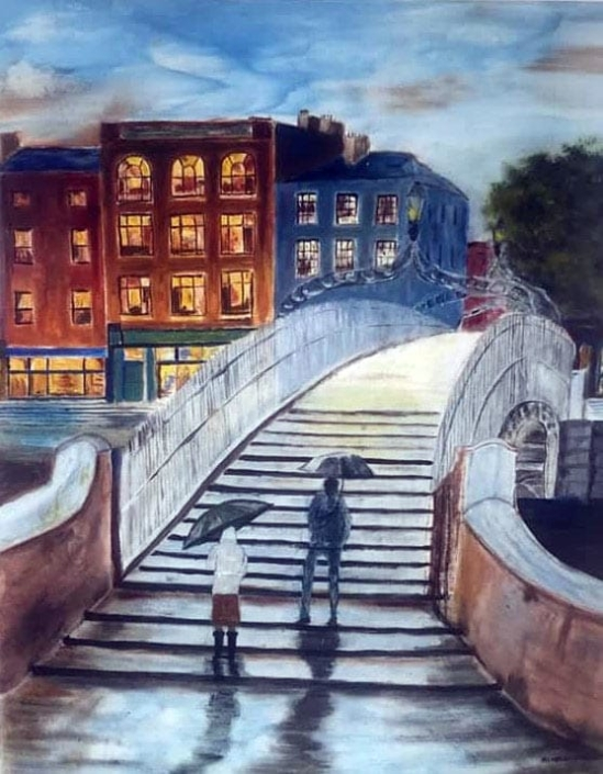 The Ha'penny Bridge, Dublin by Alannah O'Regan